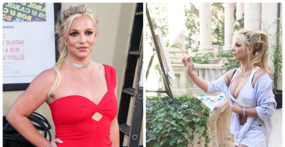 Britney Spears pristatys debiutinę meno darbų parodą: vaizdo įraše – popžvaigždės kūriniai