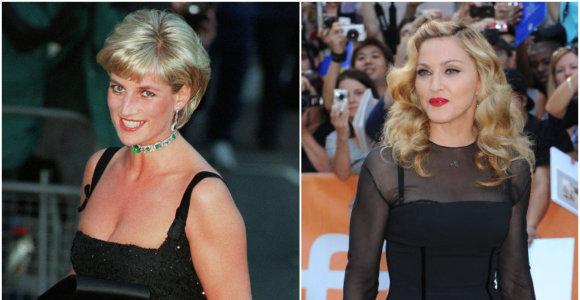 Neįvykęs dviejų princesių susitikimas: kodėl Madonna atsisakė dalyvauti pokylyje su princese Diana?