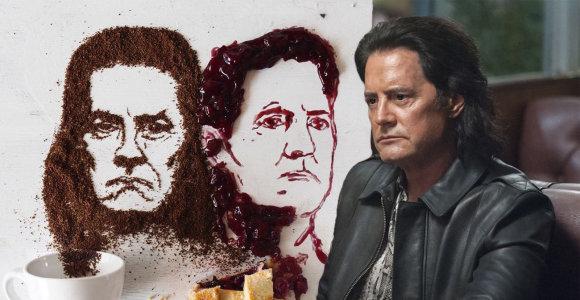 """J.Vaitkutės sukurtą """"Tvin Pykso"""" žvaigždės Kyle'o MacLachlano portretą pastebėjo ir pats aktorius"""