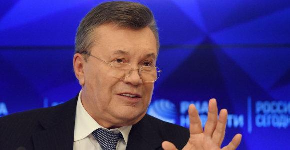 ES pratęsė sankcijas Ukrainos eksprezidentui V.Janukovyčiui ir jo bendražygiams