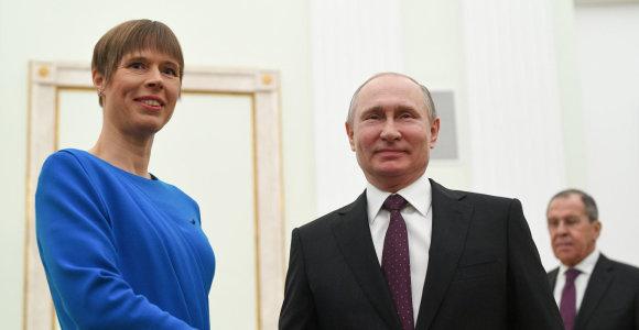 K.Kaljulaid pakvietė Rusijos prezidentą V.Putiną į Estiją