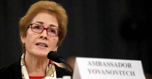 Ukrainos policija pradėjo tyrimą dėl galimo buvusios JAV ambasadorės sekimo