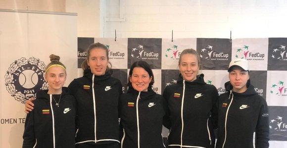Lietuvos moterų teniso rinktinė stoja į kovą Federacijos taurės varžybose