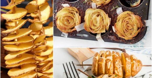 """Ta pati bulvė – netikėta forma: vaizdo pamokėlės, kaip pasigaminti """"spiralę"""", """"rožytę"""" ir """"armoniką"""""""