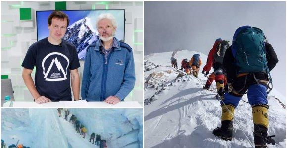 Legendinis alpinistas V.Vitkauskas: absoliuti dauguma ant Everesto nesupranta, ką daro