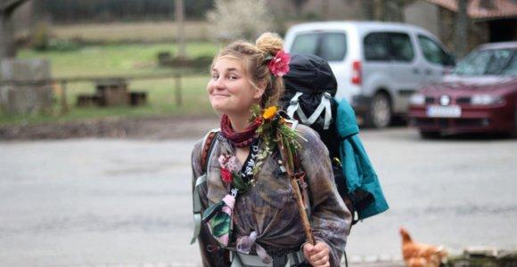 """Šv. Jokūbo keliu žiemą beveik 800 km ėjusi Eglė: """"Vieni sutiktieji palaidoję artimuosius, kiti – netekę darbo"""""""