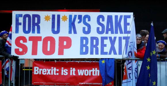 """""""Brexit"""" priešininkai Britanijoje per parą surinko daugiau kaip 1 mln. parašų"""