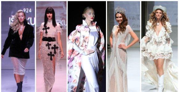 Vestuvių parodoje dizainerių modeliais tapo žinomos moterys: demonstravo vestuvines sukneles