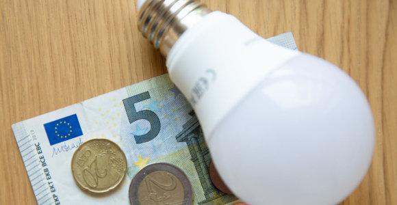 Elektros visuomeninio tiekimo kainos riba auga 7 proc.