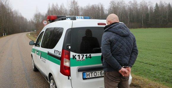 Pasislėpti miške nepavyko: Kauno policija su Lulu įtariamus vagis surado per valandą