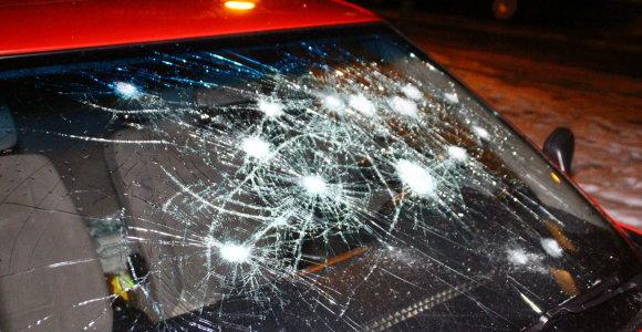 """Panevėžyje vandalams užkliuvo """"Bulka"""": išdaužė langus ir subadė padangas"""