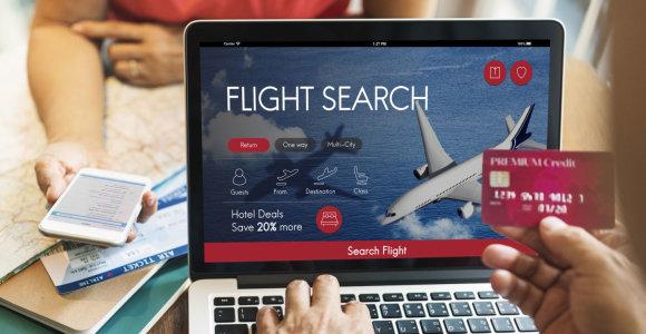 Kibernetiniai kelionių pavojai: ką svarbu žinoti perkant bilietus