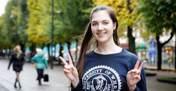 """Kaunietė moksleivė Adelina: """"Daugėja laimingų žmonių"""""""