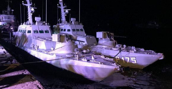 Į Ukrainos uostą sugrįžo trys Rusijos perimtikariniai laivai