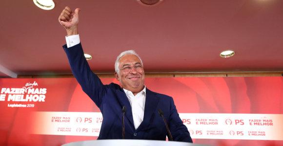 Portugalijosrinkimus laimėję socialistai valdys vieni