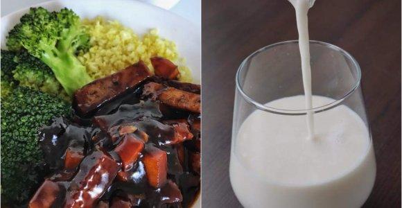 auGalingas pirmadienis: seitanas saldžiarūgščiame padaže ir naminis migdolų pienas