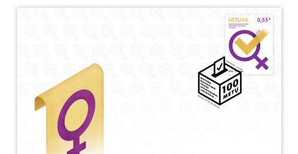 Išleidžiamas pašto ženklas, skirtas moterų balsavimo teisės įtvirtinimui