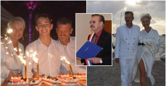 Šv.Bartolomėjaus saloje – dizainerės Aušros Haglund vestuvės: sutuokė pats prezidentas