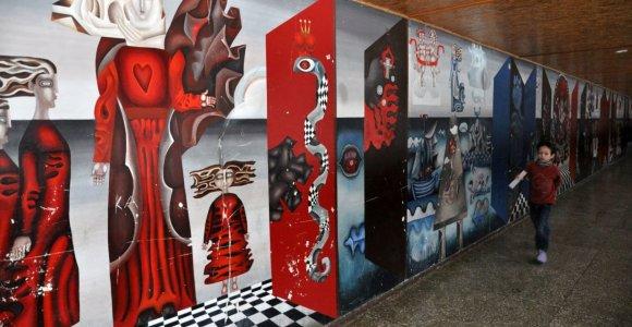 Planuojama stabdyti nacionalinės premijos laureatų A.Steponavičiaus ir B.Žilytės freskos restauravimo darbus