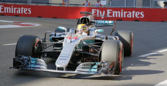 Azerbaidžano GP kvalifikacijoje greičiausias buvo Lewisas Hamiltonas