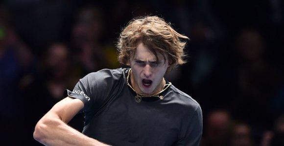 Pirmą kartą į ATP pusfinalį patekęs A.Zverevas kovos su R.Federeriu