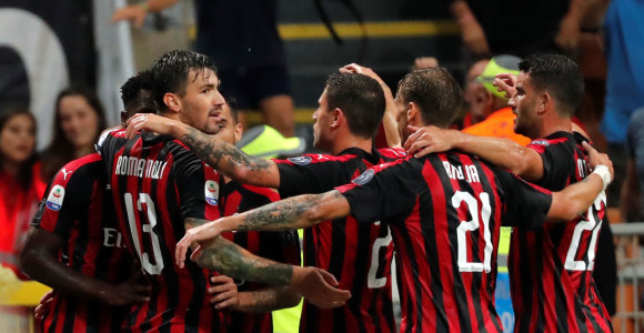"""""""Serie A"""" turas prasidėjo """"Milan"""" dramatiška pergale prieš """"Roma"""""""