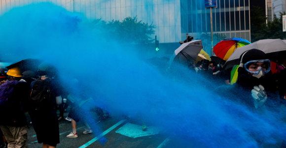 Honkongo lyderiai atsiprašė musulmonų už mėlynu skysčiu policijos aptaškytą mečetę