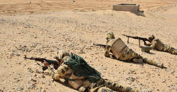 Per kariuomenės operacijas Egipto Sinajaus pusiasalyje žuvo 7 kariai ir 59 kovotojai