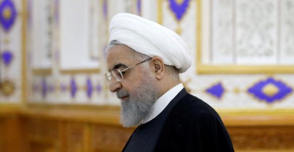 H.Rouhani: Iranas atsisako bet kokių derybų, galiojant sankcijoms