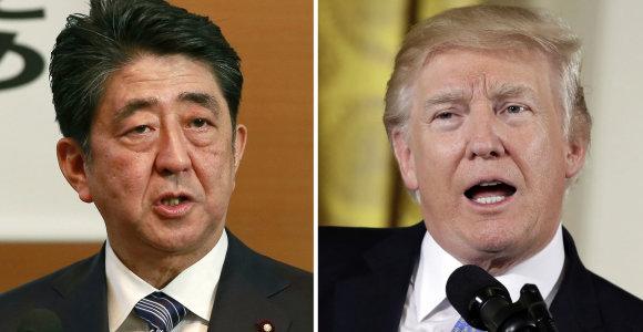 Japonijos premjeras kitą savaitę Vašingtone susitiks su D.Trumpu