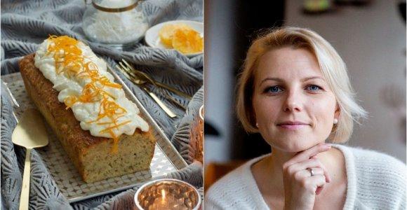 """Knygos """"Prancūzijos virtuvė"""" autorės receptas: apelsinais kvepiantis migdolinis bananų keksas"""