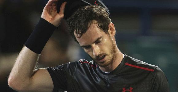 Iš traumų liūno neišbrendantis Andy Murray nežino konkrečios sugrįžimo datos