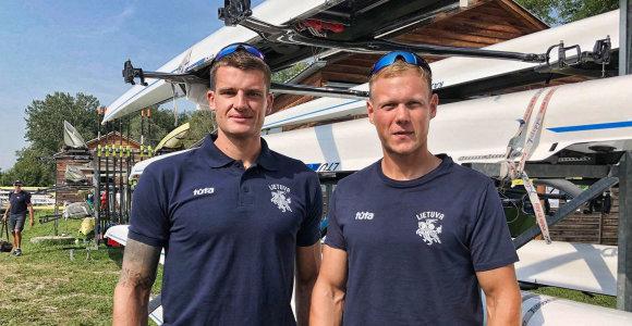 Dvi Lietuvos porinių dviviečių poros iškovojo kelialapius į Tokijo olimpines žaidynes