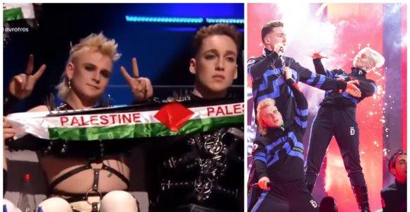 """Palestinos vėliavų iškėlimas """"Eurovizijoje"""" gali apkarsti: skandalingiesiems islandams gresia bauda"""