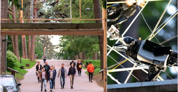 Instaliacija iš elektronikos atliekų – raginimas saugoti gamtą ir save
