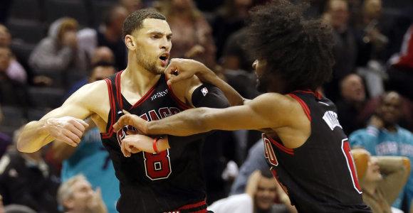 """""""Bulls"""" gynėjo vakaras: pakartojo S.Curry pasiekimą ir išplėšė pergalę paskutinę sekundę"""