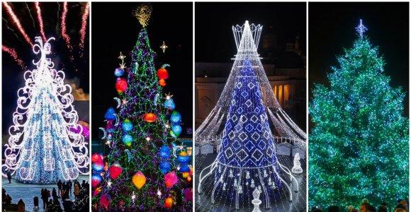 Testas: ar pavyks pažinti Lietuvos miestą iš jo šiemetinės Kalėdų eglutės?