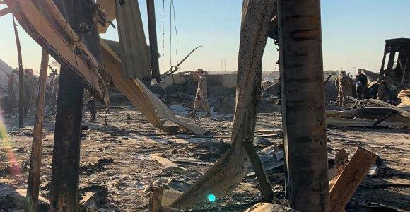 JAV karių, sužeistų per Irano raketinį smūgį Irake, skaičius padidintas iki 50