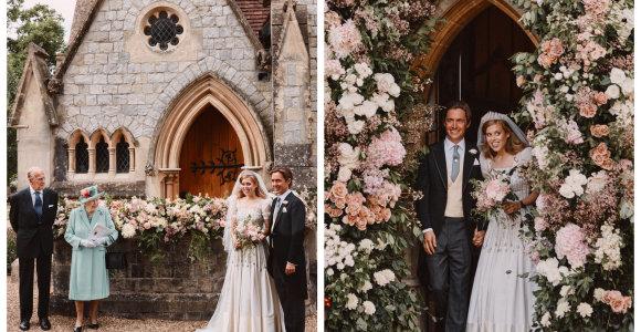 Išplatintos princesės Beatrice slaptų vestuvių nuotraukos: nuotakos suknelė – su ypatinga reikšme