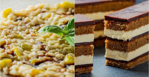 Bobų vasaros savaitgaliui – 2 klasikiniai patiekalai: itališkas rizotas ir prancūziškas tortas
