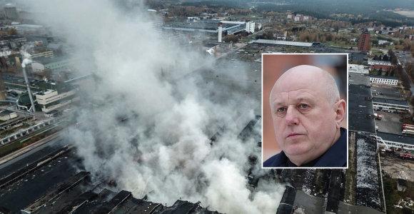 """""""Ekologistikos"""" direktorius sulaukė įtarimų dėl gaisro Alytuje: žala skaičiuojama milijonais"""
