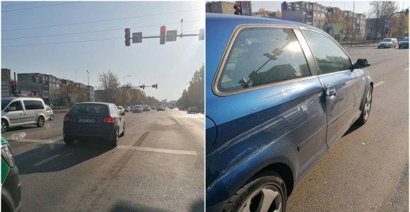Kaunietis prašo padėti surasti įžūlų vairuotoją: taranavo, nustūmė į kitą juostą ir pabėgo