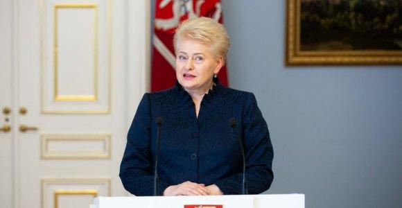 """D.Grybauskaitė taps Briuselio analitinio centro """"Friends of Europe"""" tarybos nare"""