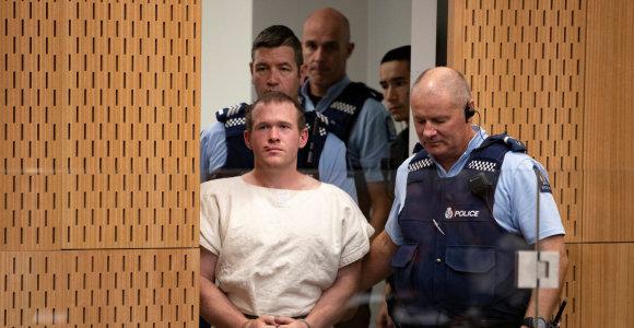 Naujosios Zelandijos mečetėse 51 žmogų nušovęs australas pripažino kaltę