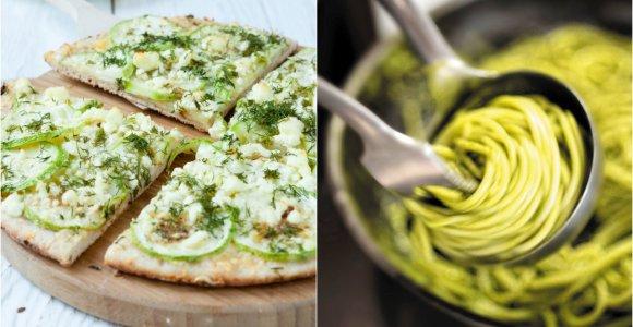 Žaliasis savaitgalio valgiaraštis: nuo salotų ir nesaldžių pyragų iki ledų