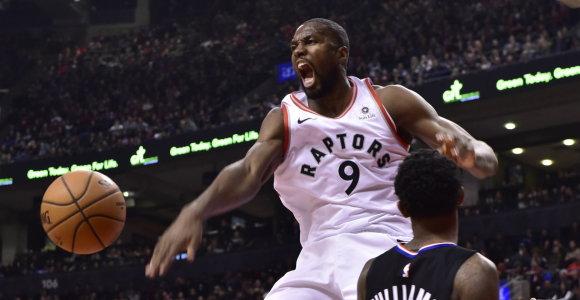 """S.Ibaka sužaidė sezono mačą, o """"Raptors"""" įsmeigė savo vėliavą ir Jutoje"""