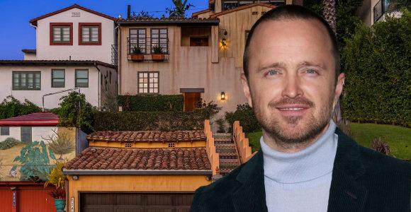 """""""Breaking Bad"""" aktorius Aaronas Paulas vos už 2 mln. pardavė namus Los Andžele: pasidairykite po vilą"""