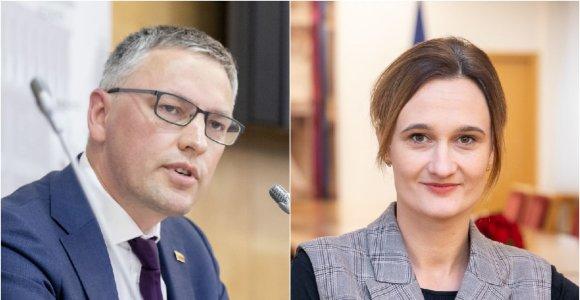Koaliciją remti svarsto dar mažiausiai trys parlamentarai, bet V.Bakui klausimų kelia V.Čmilytės-Nielsen kandidatūra