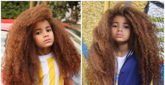 7 metų berniukas užkariavo internautų širdis: augina 60 centimetrų ilgio afro stiliaus šukuoseną