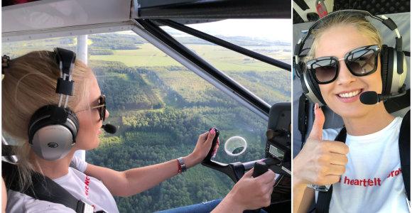 """Kristina Ivanova pirmą kartą pilotavo lėktuvą: """"Supranti, kad tavo rankose keleivių gyvybės"""""""